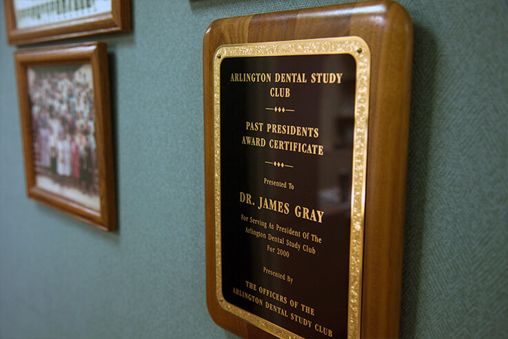 Thumbnail of Arlington Dental Study Club award plaque