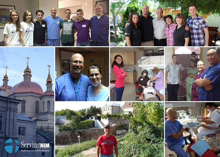 Collage of photos from community support programs