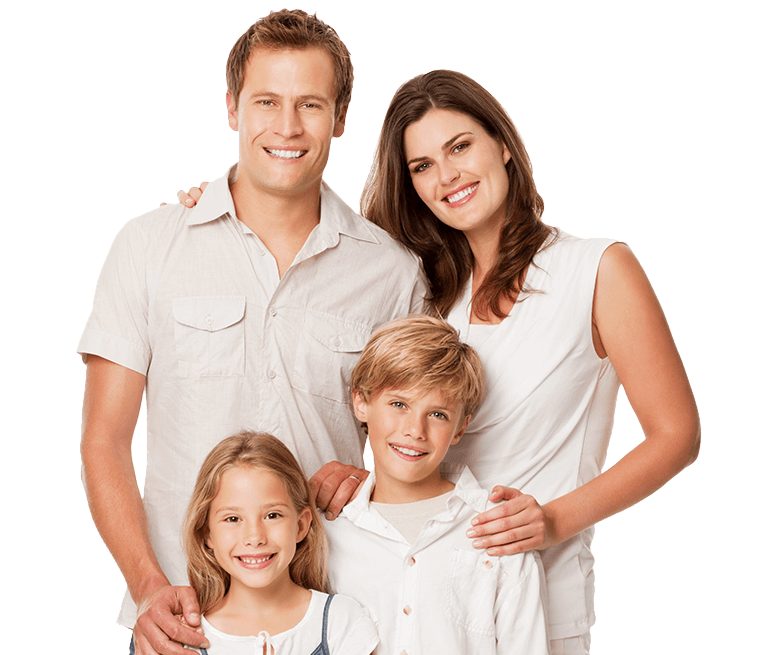 Young family with healthy smiles