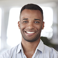 Young man with brilliant white smile