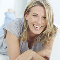 Smiling woman with gorgeous healthy teeth