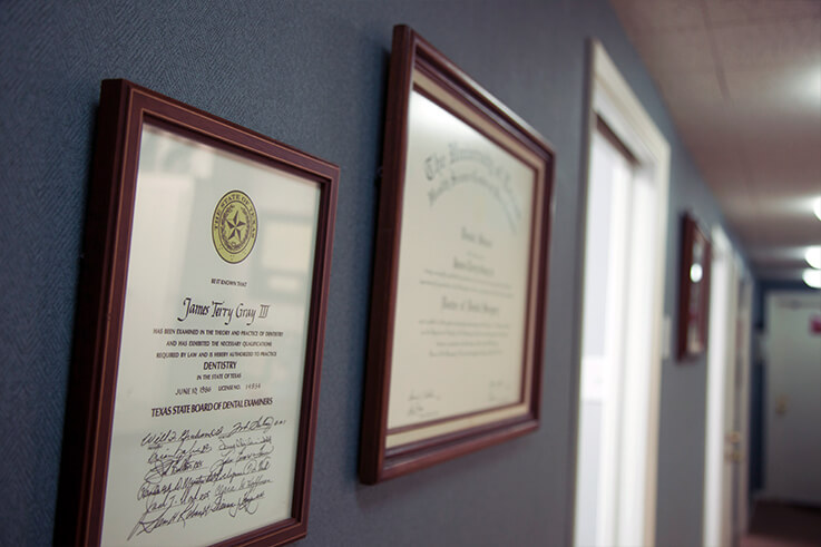 Dr. Gray's doctoral diploma