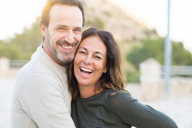 older couple smiling after Invisalign in Arlington
